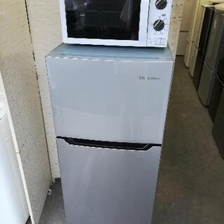 【配送無料】⭐ハイセンス冷蔵庫120L+アイリス電子レンジ⭐JR61