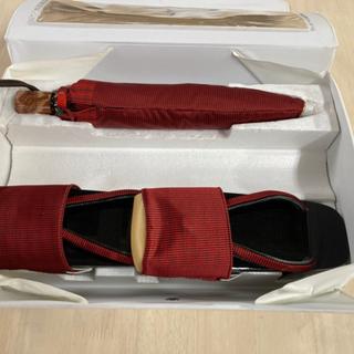 【☔️雨の日に👘】下駄 折り畳み傘セット 和装小物