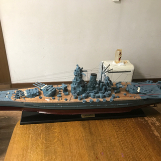 【ネット決済・配送可】大型木製模型 戦艦大和