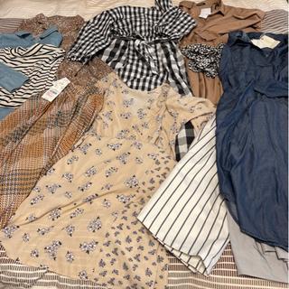 お相手決まりました!新品、タグ付きあり! 秋服たくさん 10枚セット レディース ワンピース スカート カットソー Mサイズの画像