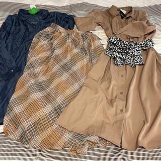 お相手決まりました!新品、タグ付きあり! 秋服たくさん 10枚セット レディース ワンピース スカート カットソー Mサイズ - 小牧市