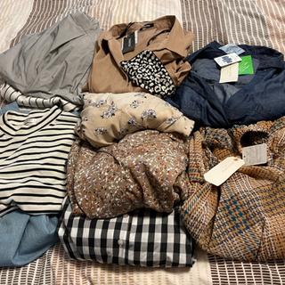 お相手決まりました!新品、タグ付きあり! 秋服たくさん 10枚セット レディース ワンピース スカート カットソー Mサイズ − 愛知県