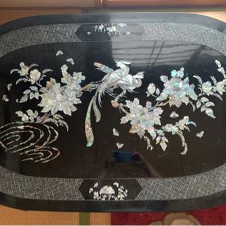 【ネット決済】テーブル貝殻で花とぐじゃく