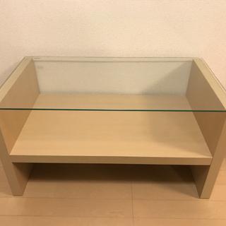 ガラス ローテーブル