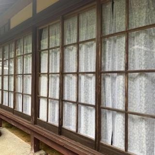 古いガラス戸