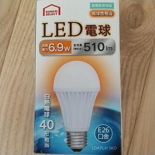 オーム電機製 LED電球 40w 電球色