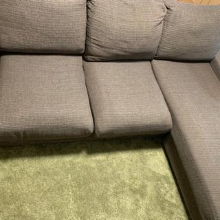 ソファ 3人掛け 寝椅子部分あり L字ソファの画像