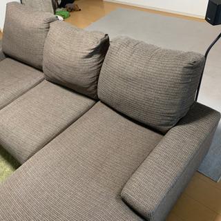 ソファ 3人掛け 寝椅子部分あり L字ソファ - 大阪市