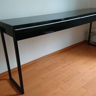 黒 引き出しき 長机 180x40x74cm (IKEA BES...