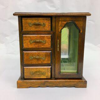 中古 木製 アンティーク調 ジュエリーボックス
