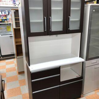 食器棚 ブラウン  ㈱ マルミツ W100 ×H201 ×D42...