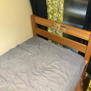 無料 無印良品のセミシングルベッド1段