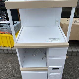 レンジ台 エムケー精工 FKD-306 米びつ付 スライドテーブ...