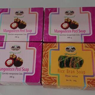 【未使用】マンゴスチン 米ぬか 石鹸 4個  タイ アバイ…