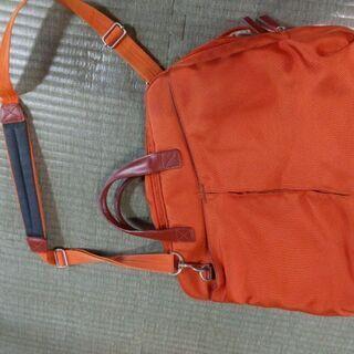 パソコンケース ショルダーバッグ オレンジ A4サイズ 書類いれ