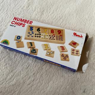 【ネット決済】美品‼️木のおもちや 数字のパズル NUMBER ...