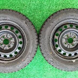 スタッドレスタイヤ、14インチ4本(鉄ホイール付き)