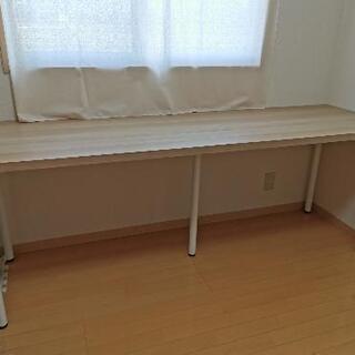 【ネット決済・配送可】【IKEAテーブル】横200×縦60 高さ...
