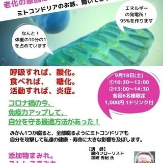 老化は病気⁉️ ミトコンドリアがあなたを守る!【残 午前・午後1...