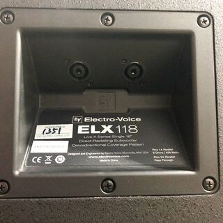 札幌近郊 送料無料 Electro-Voiceエレクトロボイス ELX118 パッシブサブウーファー 2台ペア − 北海道
