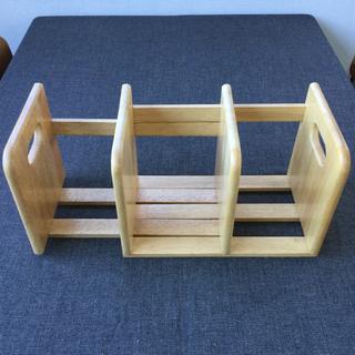 中古 木製 本立て スライド 式 ブックエンド 幅33.5…