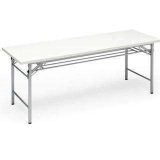 【商談中】会議テーブル 会議デスク 折りたたみ 式 ホワイト 長机
