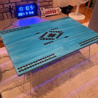 DIY オルテガ柄 折りたたみテーブル 木製