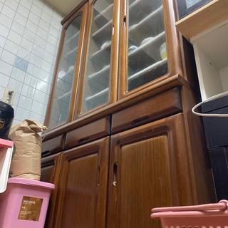 【ネット決済】木製食器棚