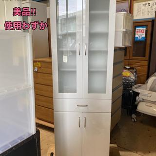 ニトリ食器棚(コパン 60DB WH)耐震機能【910N2】