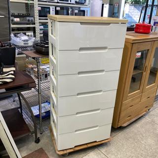 ウッドトップチェスト タンス 6段 衣類収納 クローゼット 収納家具