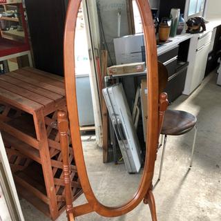 姿見 鏡 木製 スンドミラー