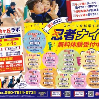 スポーツ教室・忍者ナイン「永福町ラボ」 無料体験受付中です!