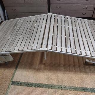 【ネット決済】atex  収納式 桐すのこベッド