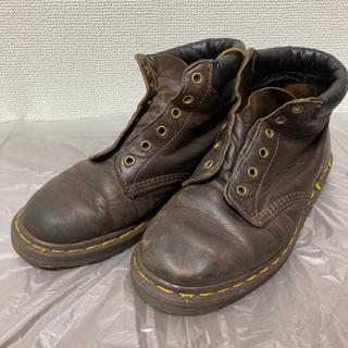 【英国製】ドクターマーチン ブーツ 6ホール ブラウン UK6 茶色