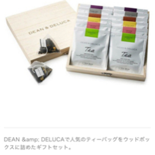 DEAN & DELUCA ティーセット ウッドボックス