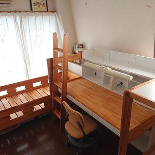 オクモト 2段ベッド&システムベッド+デスクライト