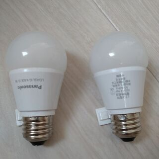 Panasoni・MITSUBISHI LED電球 電球色 4個