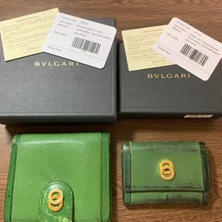 ブルガリ 財布 オリーブ グリーン おまけ付き カードケース