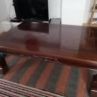 最終処分【9/28まで】家具調 こたつ 木製 座卓 ちゃぶ台