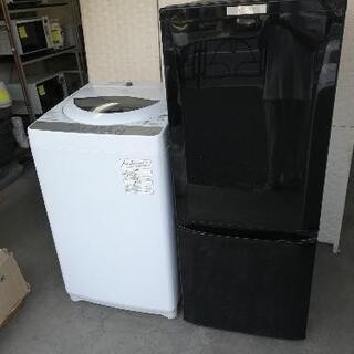 美品セット【23区送料・設置無料】⭐東芝洗濯機5kg+三菱冷蔵庫...
