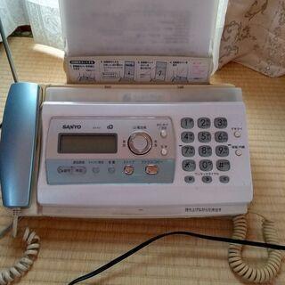 【ネット決済・配送可】FAX付き電話 SANYO SFX-P27