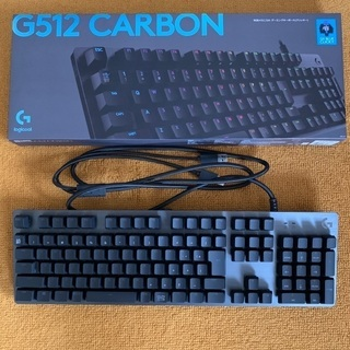 【ネット決済】ゲーミングキーボード G512 CARBON 青軸