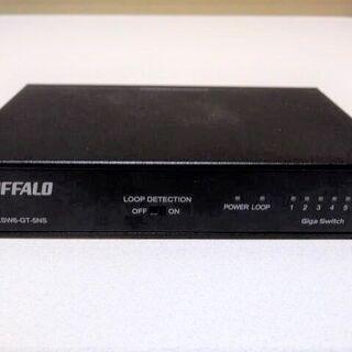 BUFFALO LSW6-GT-5NS/BK スイッチングハブ Giga対応 黒 Gigabitイーサネット(1000BASE-T)に対応 - パソコン