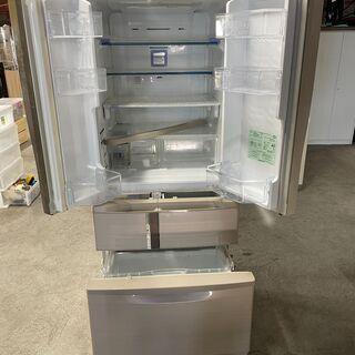 【良品】MITUBISHI 6ドア冷蔵庫 MR-R47T-F 2011年製 製氷機付き 動作確認済み 早いもの勝ち 配送OK - 札幌市