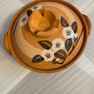 【ネット決済】たち吉の橙色の椿の土鍋