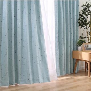 遮光1級・遮熱カーテン(ルトロ ターコイズブルー 2枚 1級遮光...