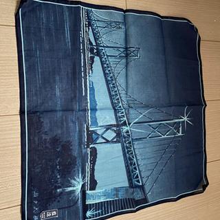 【未使用】藍染 瀬戸大橋のハンカチ