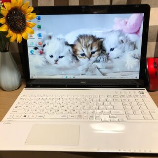 彡美品美麗!NEC・Webカメラ内蔵/新品SSD240GB/クリ...
