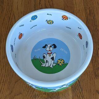 ペット用品 ✦未使用 水皿 ① 陶器 直径約20cm深さ約7cm
