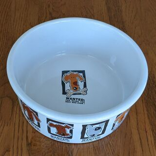 ペット用品 ✦未使用 水皿 ② 陶器 直径約20cm深さ約7cm
